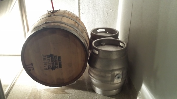 The barrels resting place; tucked quietly away with the firkins.
